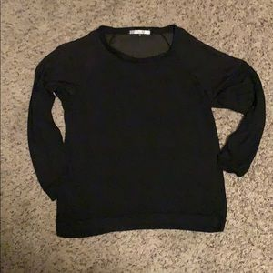 Sweaters - Black sweater. Sheer shoulders